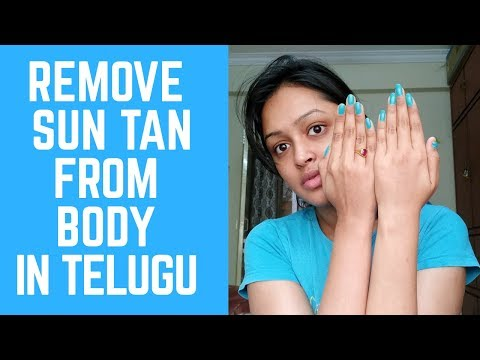 How To Remove Tan From Hands At Home In Telugu /INSTANT SKIN WHITENING TECHNIQUE