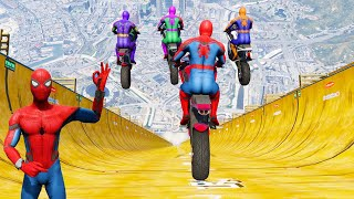 GTA 5 Spiderman VS MEGA RAMP ( Spider-Man Jumps )