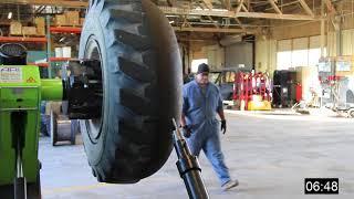 Foam tire Removal Process