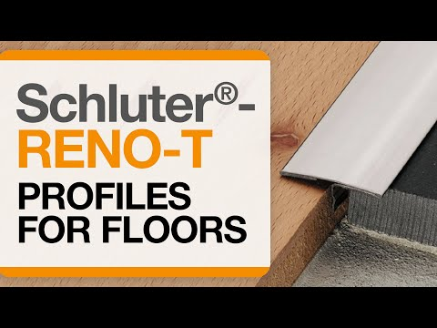 How to install a tile transition on floors: Schluter®-RENO-T