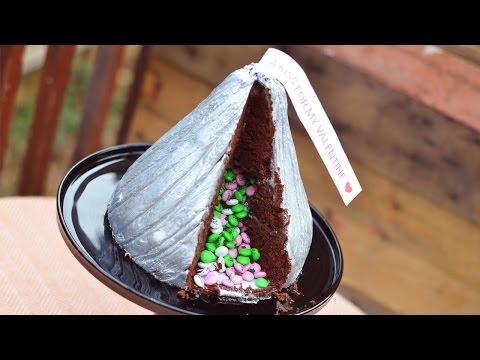 Giant Hershey Kiss Cake Tutorial