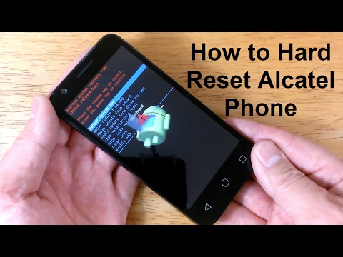 How to reset an AlCatel & How to hard RESET Alcatel one touch or ideal - Free & Easy