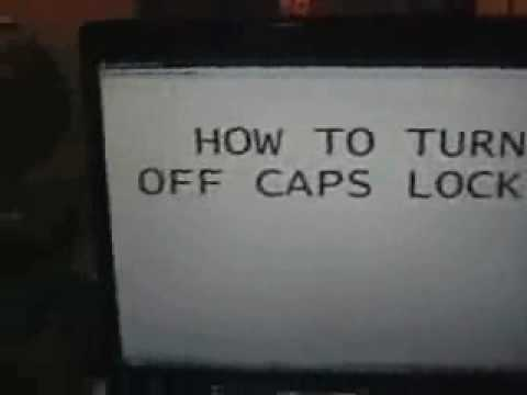 How to turn off caps lock.