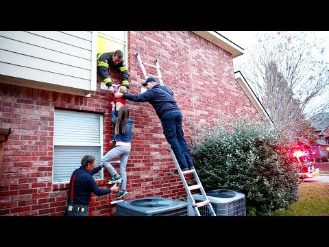 🔥EMERGENCY FIRE RESCUE!! 🚨SECOND STORY FIRE TRAINING AND DRILLS