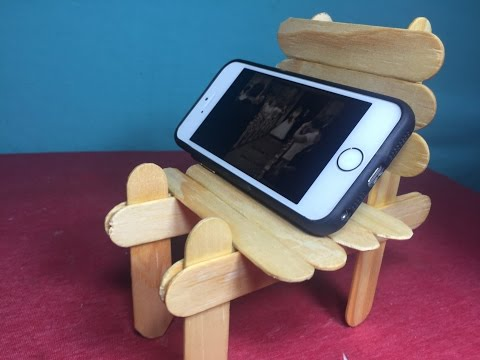 DIY How to make a chair made out of popsicle sticks - L.H.K