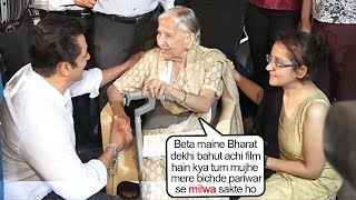 Watch Salman Khan's EMOTIOANAL Surprise hearing 80yr Old Women's request After Watching Bharat Movie