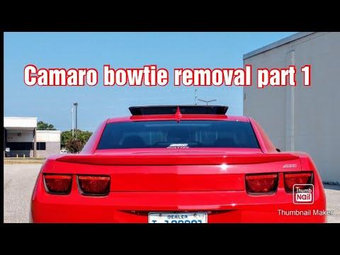 How to remove 2012 #camaro bowtie