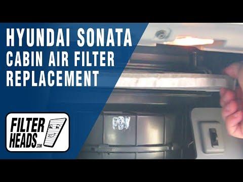 How to Replace Cabin Air Filter 2011 Hyundai Sonata