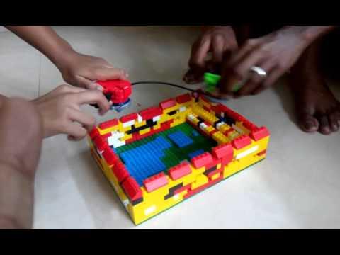 A New Lego beyblade stadium