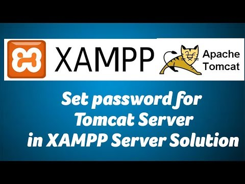 Set password for Tomcat Server in XAMPP Server Solution