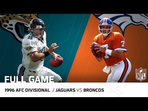 Jaguars vs. Broncos - 1996 AFC Divisional Playoffs: Jaguars Upset John Elway   NFL Full Game