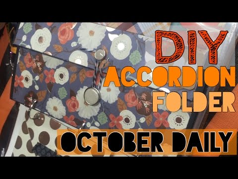 DIY Accordion Folder EASY // October Daily Process  /2016 | I'm A Cool Mom