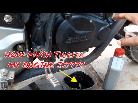 How much oil does my motorcycle need.
