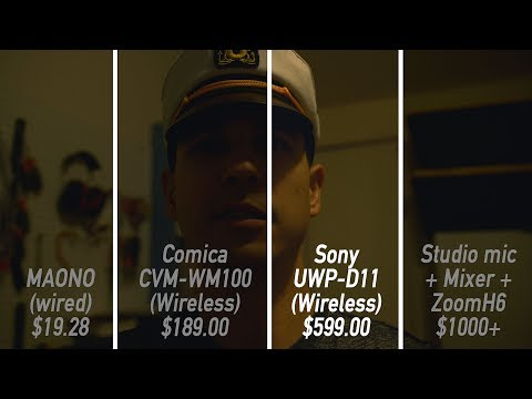 Lavalier mic showdown (Sony UWP-D11 vs Comica CVM-WM100 vs Maono Lav mic) and review