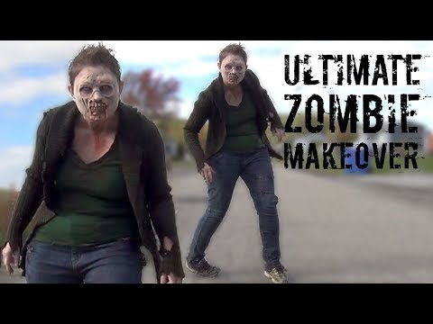 Ultimate Zombie Makeover Timelapse! Zombie costume, prosthetics and makeup!