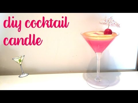 DIY Cocktail Candle|Novelty Candle