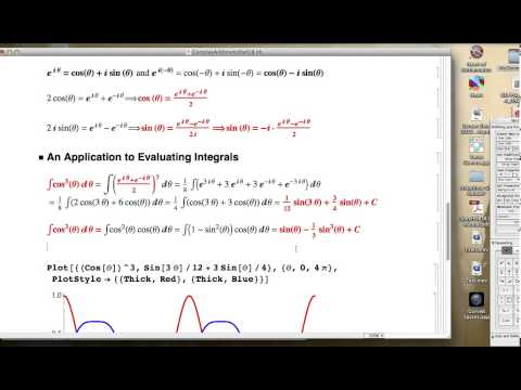 Check the use of Cosine as an Exponential to the Evaluation of an Integral.