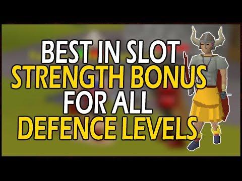 [OSRS] BEST STRENGTH BONUS Equipment for YOUR Defence Level!