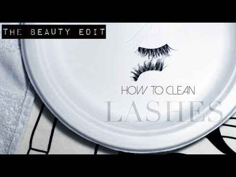 How to: Clean False Eyelashes