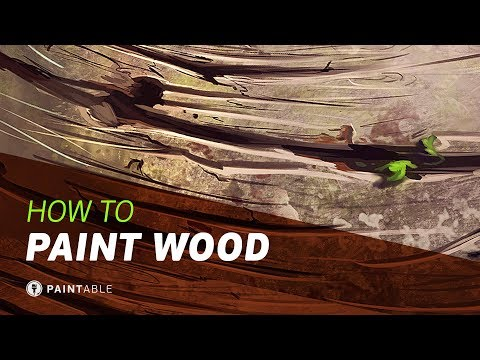 How to Paint Amazing WOOD Textures (Digital Painting Walkthrough)