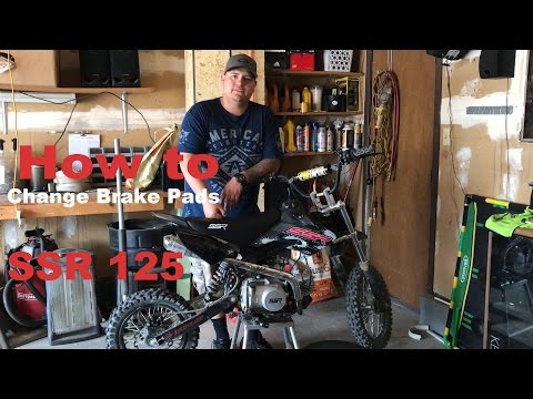 How to Change Brake Pads on SSR 125 Pit Bike