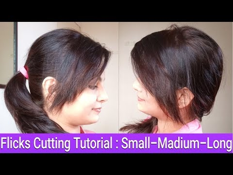 Simple To Funky Front Flicks/Fringes Cutting|Hair Cut For Round Face/Big Forehead|AlwaysPrettyUseful