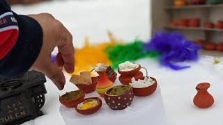 #Shorts   Food In Mini Pottery Bowls   Handmade Mini Pottery   Real Mini Food   Houston Snow 2021  