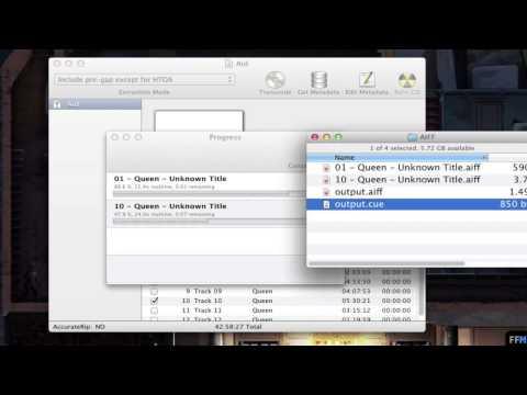 Split .AIFF file using Cue Sheet Free on Mac
