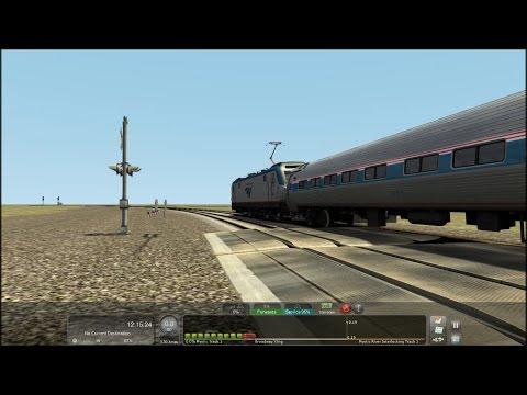 TS2015 HD EXCLUSIVE: Siemens ACS-64 Powered Amtrak Northeast Regional Trains @ Mystic,CT 1/24/15