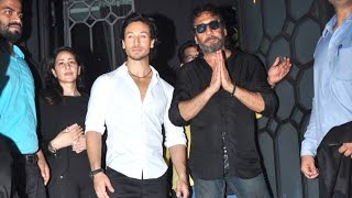 Tiger Shroff With Father Jackie Shroff At Baaghi Success Party