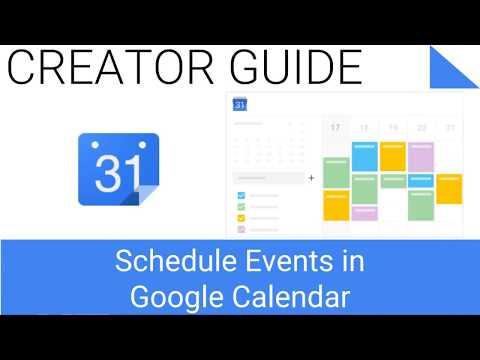 How to Schedule events in Google Calendar