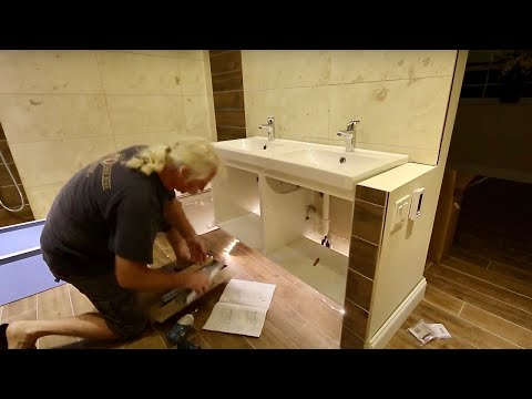 Installation of bathroom cabinets IKEA