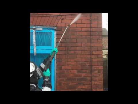 Chemical cleaning brick work. Masonry cleaning. How to clean bricks