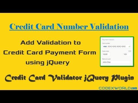 Credit Card Validation using jQuery