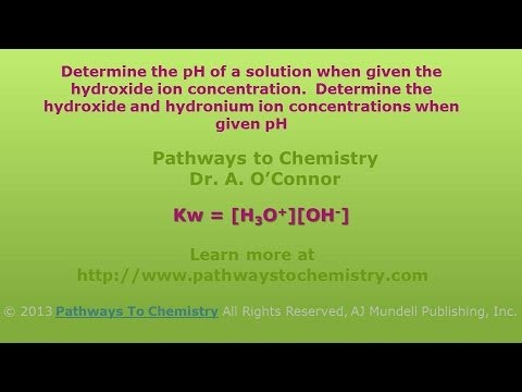 Chemistry: Determine pH, hydronium and hydroxide ion concentrations and pOH