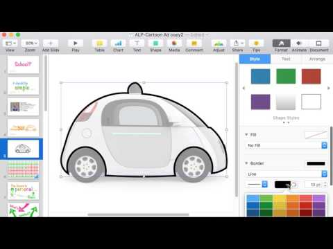 Draw graphics in Keynote for non-artists