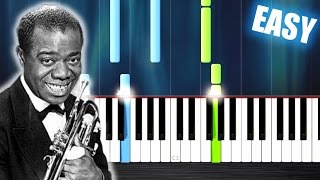 Louis Armstrong - What A Wonderful World - EASY Piano Tutorial by PlutaX