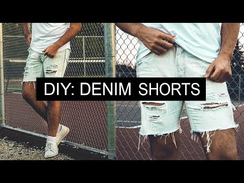 DIY: Distressed Denim Shorts