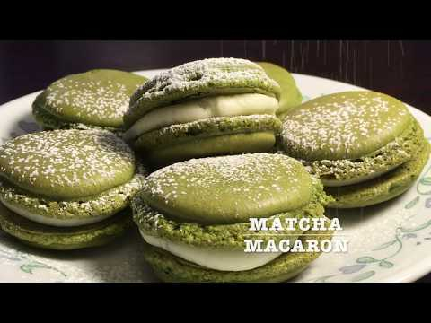 Matcha Greentea Macarons with Butter Cream Filling recipe