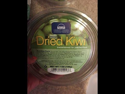 Dried Kiwi Review First Impression   Mukbang