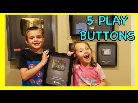 5 YOUTUBE PLAY BUTTONS!!! Kids Open Our 5th Play Button from YouTube