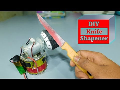 Diy knife sharpener machine | knife sharpening | how to make a knife sharpener | stupid engineer