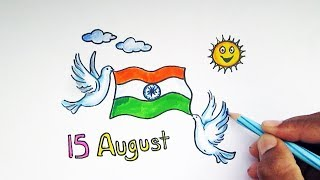 Independence day drawing ideas for kids