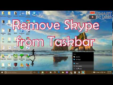 How to Remove Skype Icon from Taskbar in Windows 10 without Quitting