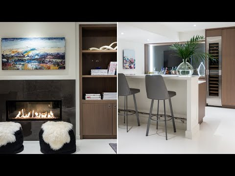 Room Tour: A Warm, Modern Basement With White Floors