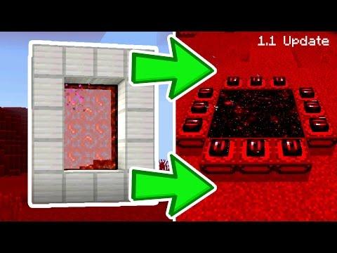 NEW MINECRAFT PE 1.1 DIMENSION PORTALS // Minecraft Pocket Edition 1.1 Update Addon Portal DIMENSION