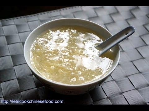 Chinese Dessert Recipe:Water Chestnut Sweet Soup