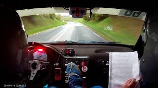 Rallye de la Porte Normande 2017 - es5 - Piau / Laforge caméra embarquée
