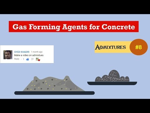 Gas Forming Agents for Concrete || Admixtures #8