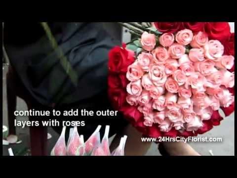 How To Arrange A 99-stalk Rose Bouquet